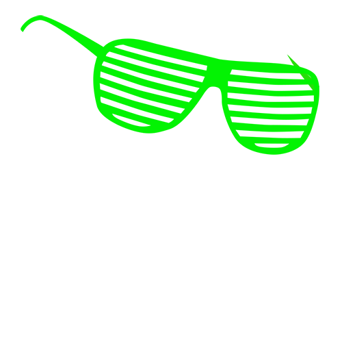 Green 80's sunglasses
